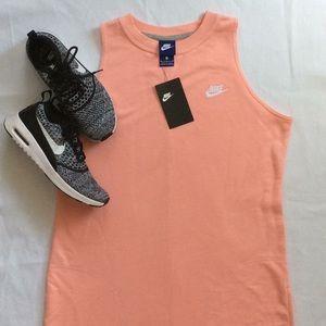 Salmon Peach Nike Sweatshirt Dress